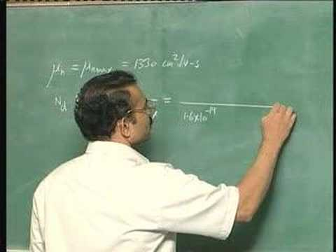 Lecture 14 -Carrier Transport (contd)