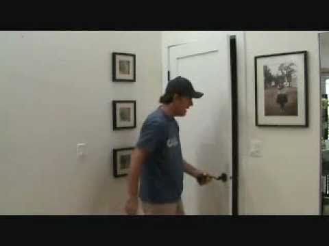 How to determine the backset of a door handle latch assembly