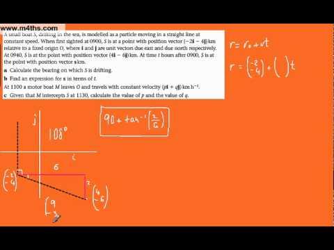 (4) Vectors M1 Mechanics Past Exam Questions (more boats)