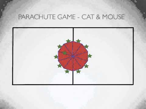 P.E. Games - Parachute Game: Cat & Mouse