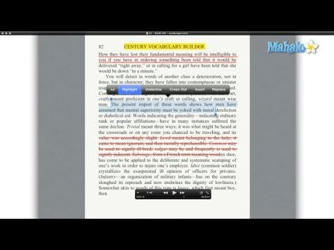 How to Annotate Text in GoodReader for the iPad