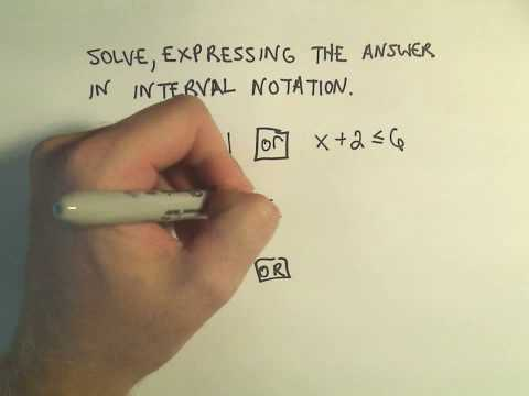 Solving Linear Compound Inequalities - Example 1