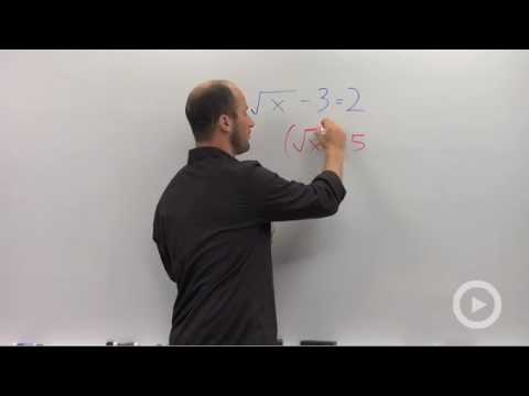 Algebra 2 - Solving an Equation with Radicals