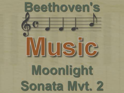 Music: Moonlight Sonata Mvt.2 - Beethoven