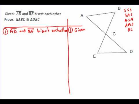 Triangle Proof Example 1