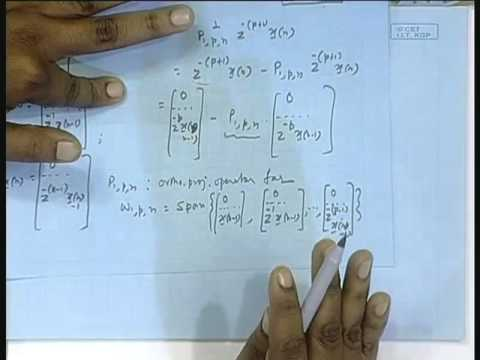 Lecture - 31 RLS Lattice Recursions