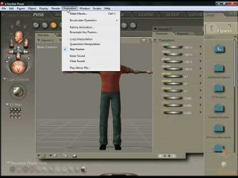 Poser 7 Tutorial Video