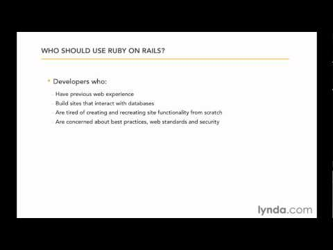 The advantages of using Ruby on Rails | lynda.com overview