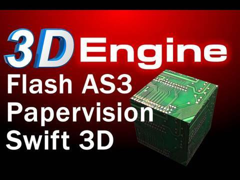Flash 3D Engine Interaction Tutorial : Papervision3D and Swift 3D Mouse Interaction
