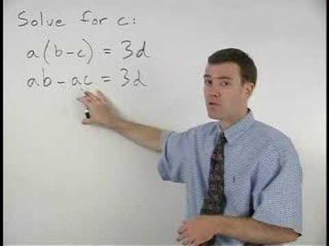 How to Do Algebra - YourTeacher.com - 1000+ Online Math Lessons