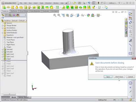 Advanced Solidworks 2012 Tutorial | Face Fillets
