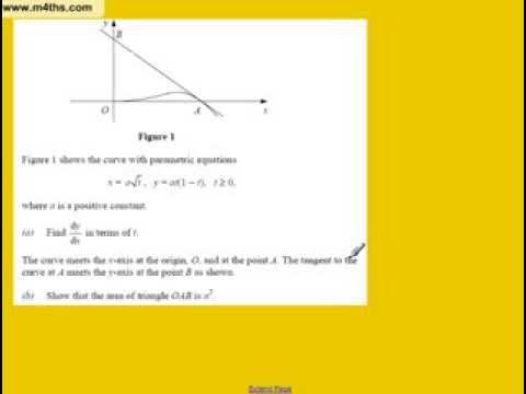 Parametric Equation Exam Problem (very hard A2 Core 4 example)