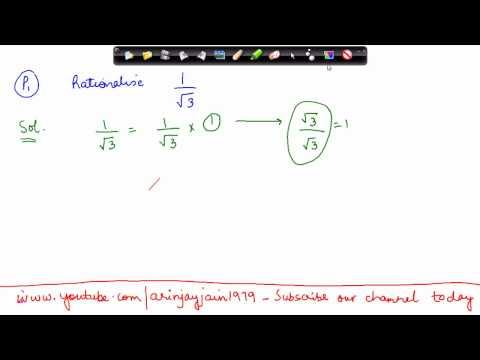 1421. CBSE Math Class IX, ICSE Class 9 -   rationalisation of denominator