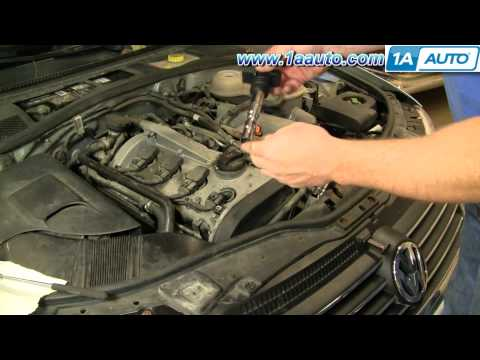 How To Install Replace Engine Ignition Coil Volkswagen Passat 1.8T 1AAuto.com