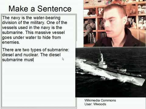 Learn English Make a Sentence and Pronunciation Lesson 138: Submarine