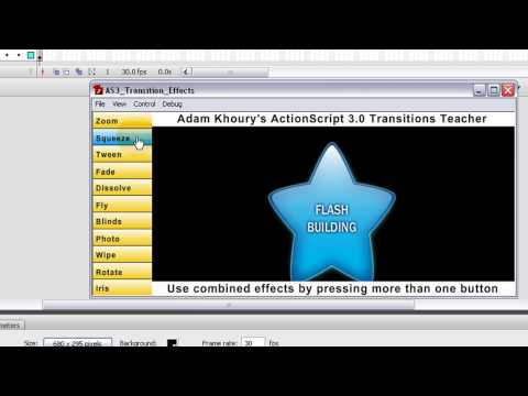 Learn Cool Flash ActionScript 3.0 Transition Effects - Animations For CS3 + CS4