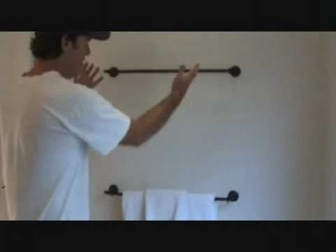 How to install a towel bar rack: re-attaching a loose end