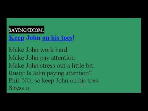 Learn English Idioms Lesson #16