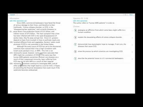 Grockit GMAT Verbal - Reading Comprehension: Question 5198