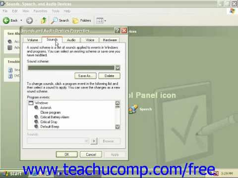 Windows XP Tutorial Audio Adjustment Microsoft Training Lesson 2.12