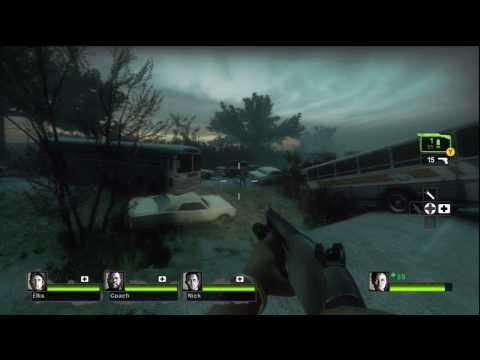 Left 4 Dead 2 Gameplay - 5 - Highway and Off-Ramp