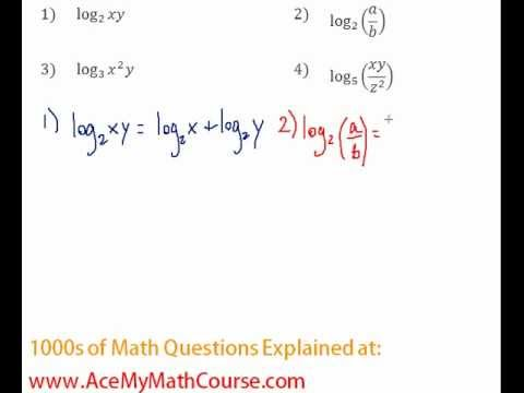 Logarithms - Expanding Log Expressions Question #2