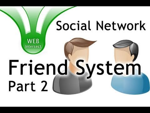 2/6 - Web Intersect Friend Add System Tutorial PHP jQuery MySQL Social Network