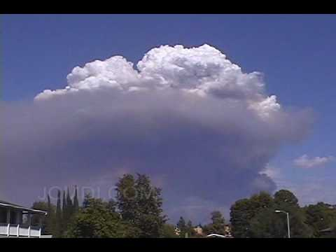 Santa Clarita Acton Fire Smoke Plume Time lapse