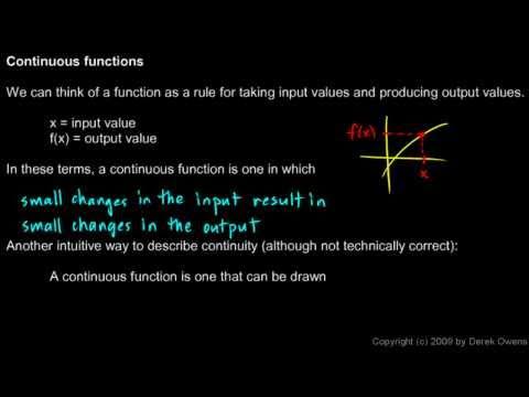 Calculus 2.6a - Continuity