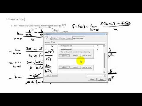 Math 229 Exam 1 #7
