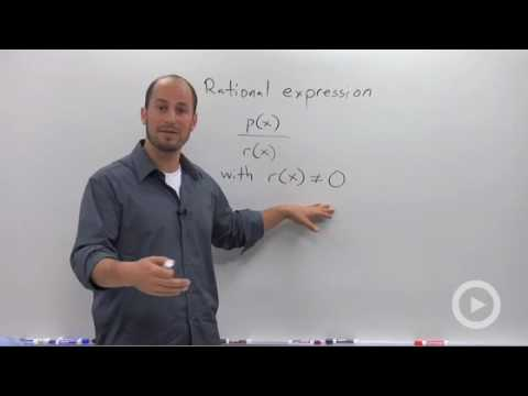 Algebra 2 - Definition and Domain of a Rational Expression