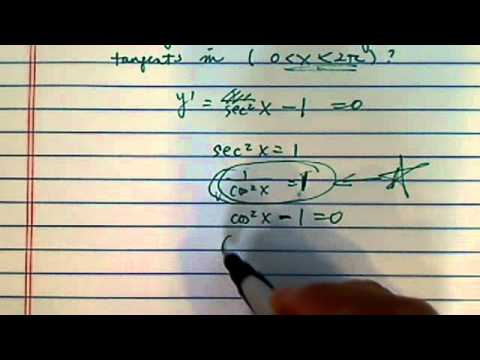 how to find equation of a tangent line??