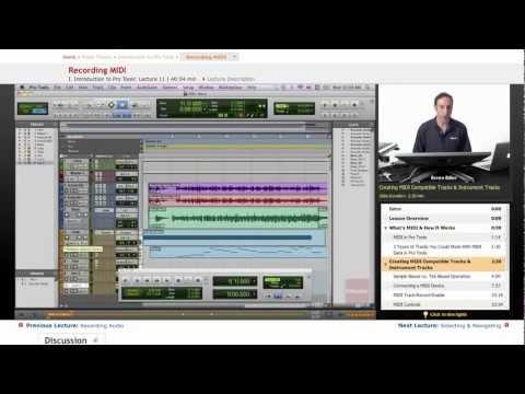 Pro Tools: Recording MIDI
