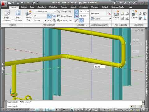 Routing Pipe with AutoCAD Plant 3D (Part 3)