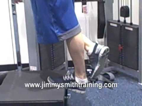 single leg calf raises