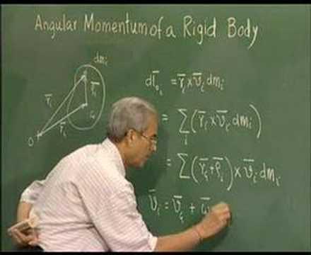 Module 2 - Lecture 2 - Inertia Tensor & Angular Momentum