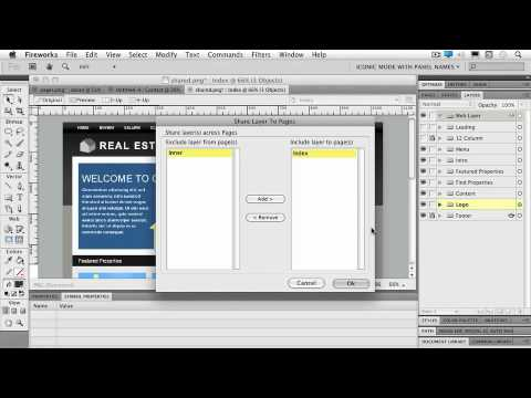 Total Training for Adobe Fireworks CS5 Ch8 L3. Sharing Layers between Templates