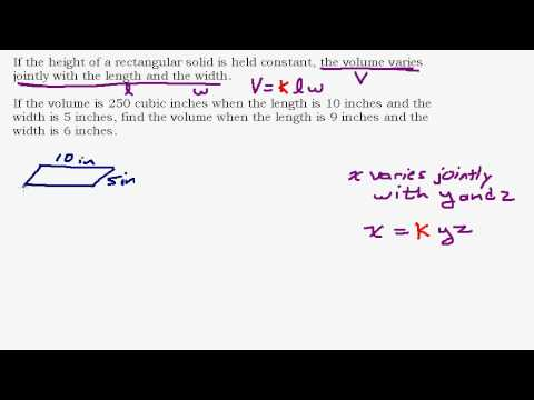 Solving a Joint Variation Problem involving Volume