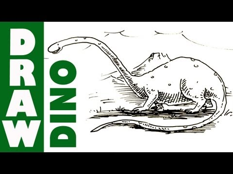 How to draw a Cartoon Dinosaur - Brontosaurus