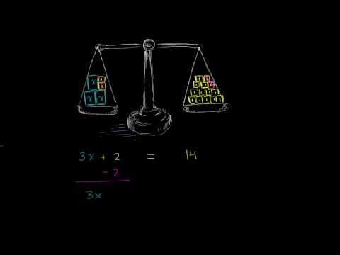Why we do the same  thing to both sides  two step equations