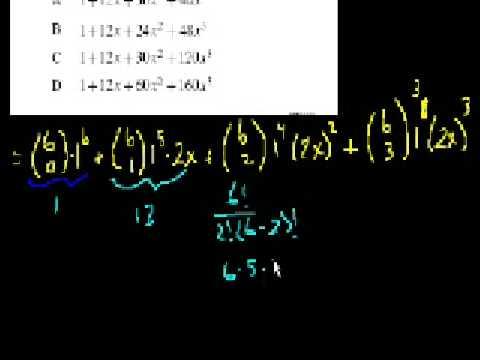 Algebra II: Binomial Expansions, Geometric Series Sum