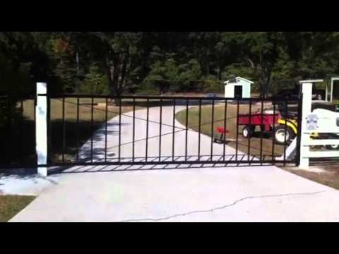 how to build a driveway gate,part 7