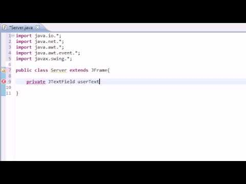 Intermediate Java Tutorial - 38 - Awesome Instant Messaging Program with Streams and Sockets