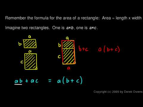 Algebra 1  2.05b The Distributive Property, Part 2