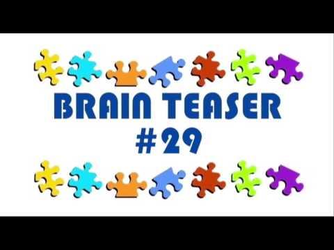 Video Brain Teaser #29