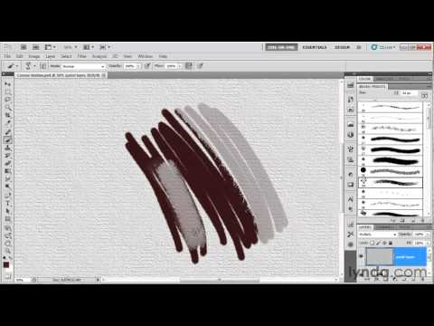 Photoshop tutorial: How to use the predefined brushes | lynda.com