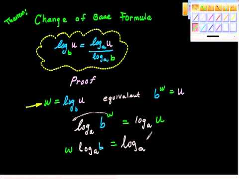Change of Base Formula (Proof).