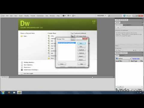 How to set up a Dreamweaver web site | lynda.com tutorial