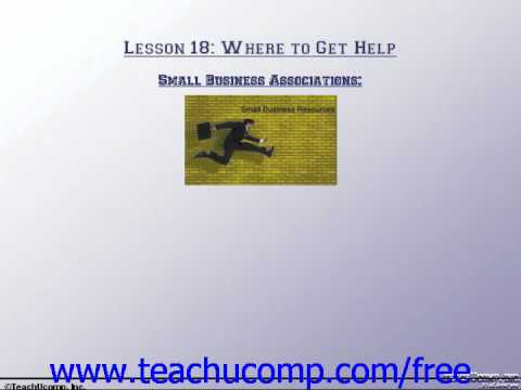Accounting Tutorial Small Business Associations Training Lesson 18.6