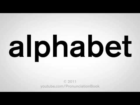 How To Pronounce Alphabet